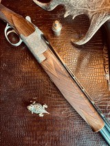"""Browning Superposed Superlight Diana - 410ga - 26.5"""" - ca. 1976 - Original Browning Box - Feathercrotch Walnut - Lewancyk Engraved Signed Twice - 20 of 25"""