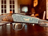 """Browning """"FN"""" SA-22 - .22LR - Angelo Bee Custom High Grade - Turkish Walnut - Gold Animals - Outstanding Engraved Background and Predator Scene - 21 of 22"""