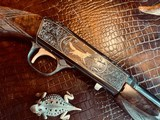 """Browning """"FN"""" SA-22 - .22LR - Angelo Bee Custom High Grade - Turkish Walnut - Gold Animals - Outstanding Engraved Background and Predator Scene - 2 of 22"""