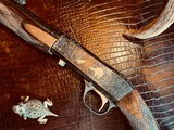 """Browning """"FN"""" SA-22 - .22LR - Angelo Bee Custom High Grade - Turkish Walnut - Gold Animals - Outstanding Engraved Background and Predator Scene - 3 of 22"""