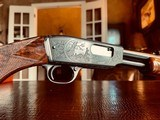 """Winchester Model 61 Deluxe #8 - """".22 Win. Mag. R. F."""" - Squirrels & Cottontails - 99% High Condition - Magnificent Black Walnut - Finest Engraving!! - 6 of 25"""