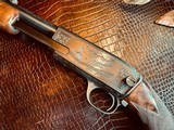 """Winchester Model 61 Deluxe #8 - """".22 Win. Mag. R. F."""" - Squirrels & Cottontails - 99% High Condition - Magnificent Black Walnut - Finest Engraving!! - 16 of 25"""