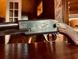 """Winchester Model 61 Deluxe #8 - """".22 Win. Mag. R. F."""" - Squirrels & Cottontails - 99% High Condition - Magnificent Black Walnut - Finest Engraving!! - 5 of 25"""