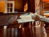 """Browning Superlight Gold Classic - 20ga - IC/M - 26.5"""" - Beaded & Carved Checkering - Collaboratively Engraved by Blues and J. Pirotte - 5 of 25"""