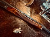 """Winchester Model 21 """"Show Gun"""" - 16ga - 26"""" - IC/M - Exquisitely Detailed Gold Custom Quail by A. DeLucia Engraved at Factory - One-of-a-kind! - 14 of 24"""