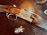 """Browning Superposed Diana RKLT - 20ga - 3"""" - IC/M - 26"""" Barrels - Angelo Bee Fine Upgrade - Checkered Butt Engraved Screws - Schnabel Forend - 7 of 23"""