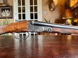 """Parker Repro DHE - 28ga - 26"""" - IC/M - Straight Grip - Tiger Style Walnut - Splinter Forend - Single Trigger - Leather Maker's Case - 99%"""