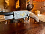 Browning Trombone Rimfire - .22LR - Angelo Bee Upgrade - Ultra Deep Relief Engraving - Predator Small Game Scene - Ornate Scroll - 99% - 9 of 24