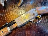 Browning Trombone Rimfire - .22LR - Angelo Bee Upgrade - Ultra Deep Relief Engraving - Predator Small Game Scene - Ornate Scroll - 99% - 13 of 24
