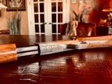 Browning Trombone Rimfire - .22LR - Angelo Bee Upgrade - Ultra Deep Relief Engraving - Predator Small Game Scene - Ornate Scroll - 99% - 23 of 24