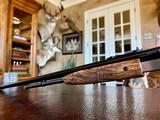 Browning Trombone Rimfire - .22LR - Angelo Bee Upgrade - Ultra Deep Relief Engraving - Predator Small Game Scene - Ornate Scroll - 99% - 21 of 24