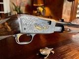 Browning Belgium Trombone Premium Upgrade - 22L - Turkish Grade V Stock & Forend - Angelo Bee Deep Relief Premium Engraving - 13 of 24