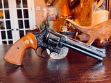 """Colt Python .357 Magnum - 6"""" - Colt Provenance - Built for Robert """"Bobby"""" Shelton Heir and President of The King Ranch - Grifnee & Delcour Engraved - 7 of 21"""