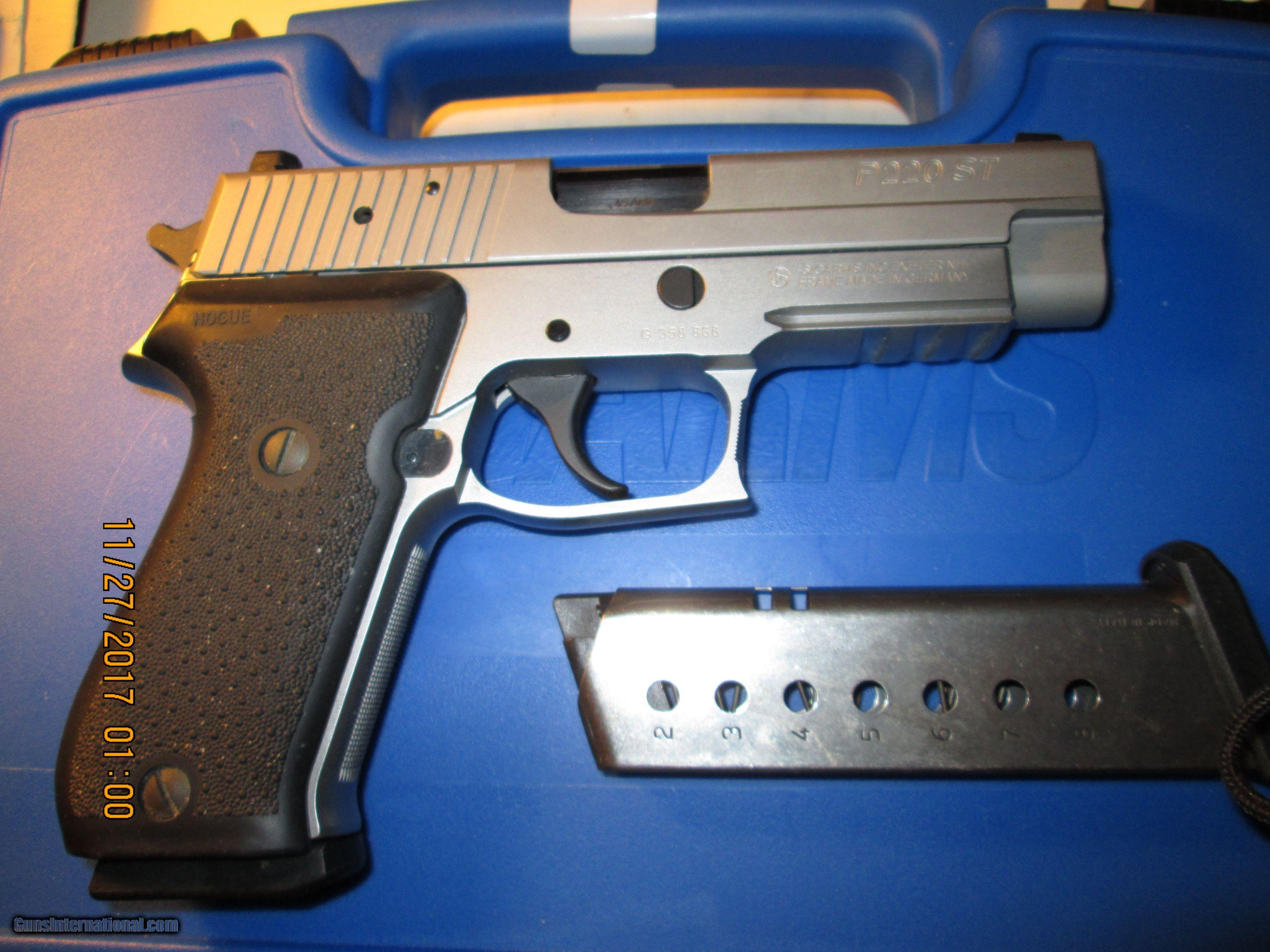 Sig Sauer P220 St 45 Acp Pistol All Stainless Including