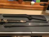 Blaser R93 with two barrels 300 win mag/375, two muzzle break, Professional stock, Swarovski Scope, and case - 8 of 14