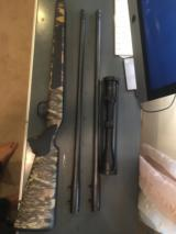 Blaser R93 with two barrels 300 win mag/375, two muzzle break, Professional stock, Swarovski Scope, and case