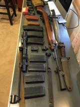 M1 carbine, one correct era scope, 2 base for scope, sling, magazines and