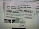 S&W STRAIGHT LINE SINGLE SHOT TARGET PISTOL, 10 inch barrel, 4 digit serial number 1088 - 13 of 13