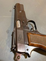 Browning Hi power with Tangent site and opening for wooden stock attachmentin perfect shape - 4 of 14