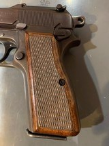 Browning Hi power with Tangent site and opening for wooden stock attachmentin perfect shape - 7 of 14