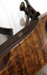 Contemporary Flintlock Kentucky Rifle by John Bivens Old Salem, NC - 9 of 11