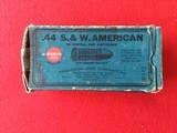 Rare! Late 1800's Remington UMC .44 S&W American- Black Powder-Box of 50