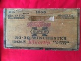 Winchester-Western l920-30's Wooden Box For 1,000-30/30 Cartridges.