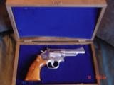 "Smith & Wesson 66-1,357mag,4"" Chicago Police Dept,125 years service,satin stainless,in case,1980 - 2 of 10"