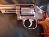 "Smith & Wesson 66-1,357mag,4"" Chicago Police Dept,125 years service,satin stainless,in case,1980 - 8 of 10"