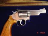 "Smith & Wesson 66-1,357mag,4"" Chicago Police Dept,125 years service,satin stainless,in case,1980 - 1 of 10"