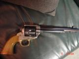 """EMF Dakota 1873 Colt SAA replica 45 LC,7 1/2"""",factory engraved,brass grip frame,Jager-Italy,fitted case - 4 of 12"""