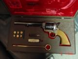 """EMF Dakota 1873 Colt SAA replica 45 LC,7 1/2"""",factory engraved,brass grip frame,Jager-Italy,fitted case - 1 of 12"""