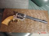 """EMF Dakota 1873 Colt SAA replica 45 LC,7 1/2"""",factory engraved,brass grip frame,Jager-Italy,fitted case - 3 of 12"""