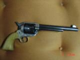 """EMF Dakota 1873 Colt SAA replica 45 LC,7 1/2"""",factory engraved,brass grip frame,Jager-Italy,fitted case - 12 of 12"""