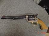 """EMF Dakota 1873 Colt SAA replica 45 LC,7 1/2"""",factory engraved,brass grip frame,Jager-Italy,fitted case - 11 of 12"""