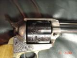 """EMF Dakota 1873 Colt SAA replica 45 LC,7 1/2"""",factory engraved,brass grip frame,Jager-Italy,fitted case - 5 of 12"""