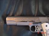 Ruger SR1911, 1 of 300,mirror polished stainless,45 acp,scroll engraved,gold outline,custom grips,& 14 words on the slide,2 mags box etc. - 3 of 12
