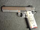 Ruger SR1911, 1 of 300,mirror polished stainless,45 acp,scroll engraved,gold outline,custom grips,& 14 words on the slide,2 mags box etc. - 10 of 12