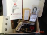 Ruger SR1911, 1 of 300,mirror polished stainless,45 acp,scroll engraved,gold outline,custom grips,& 14 words on the slide,2 mags box etc. - 8 of 12