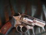 Ruger SP101, fully factory deep scroll engraved,357 magnum,2 1/4