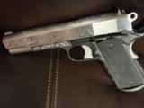 AMT Custom 1911 Government 45acp,deep scroll engraved all over,2 tone,full size barrel,bevelled mag well,beavertail grip safety,awesome 1 of a kind !! - 9 of 12