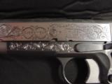 AMT Custom 1911 Government 45acp,deep scroll engraved all over,2 tone,full size barrel,bevelled mag well,beavertail grip safety,awesome 1 of a kind !! - 4 of 12