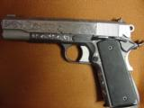 AMT Custom 1911 Government 45acp,deep scroll engraved all over,2 tone,full size barrel,bevelled mag well,beavertail grip safety,awesome 1 of a kind !! - 2 of 12