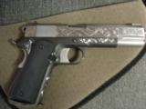 AMT Custom 1911 Government 45acp,deep scroll engraved all over,2 tone,full size barrel,bevelled mag well,beavertail grip safety,awesome 1 of a kind !! - 10 of 12