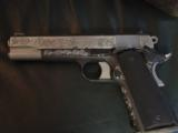 AMT Custom 1911 Government 45acp,deep scroll engraved all over,2 tone,full size barrel,bevelled mag well,beavertail grip safety,awesome 1 of a kind !! - 12 of 12