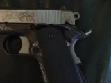AMT Custom 1911 Government 45acp,deep scroll engraved all over,2 tone,full size barrel,bevelled mag well,beavertail grip safety,awesome 1 of a kind !! - 5 of 12