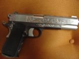 AMT Custom 1911 Government 45acp,deep scroll engraved all over,2 tone,full size barrel,bevelled mag well,beavertail grip safety,awesome 1 of a kind !! - 1 of 12
