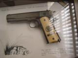 Colt 1911,World War 1 Series,4 gun set,all the same serial #2412,all engraved,in shadow boxes,unfired,custom grips,45acp,made in 1968,45 years old !! - 2 of 12