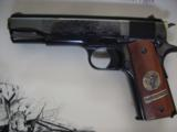 Colt 1911,World War 1 Series,4 gun set,all the same serial #2412,all engraved,in shadow boxes,unfired,custom grips,45acp,made in 1968,45 years old !! - 10 of 12