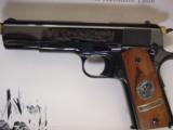 Colt 1911,World War 1 Series,4 gun set,all the same serial #2412,all engraved,in shadow boxes,unfired,custom grips,45acp,made in 1968,45 years old !! - 6 of 12
